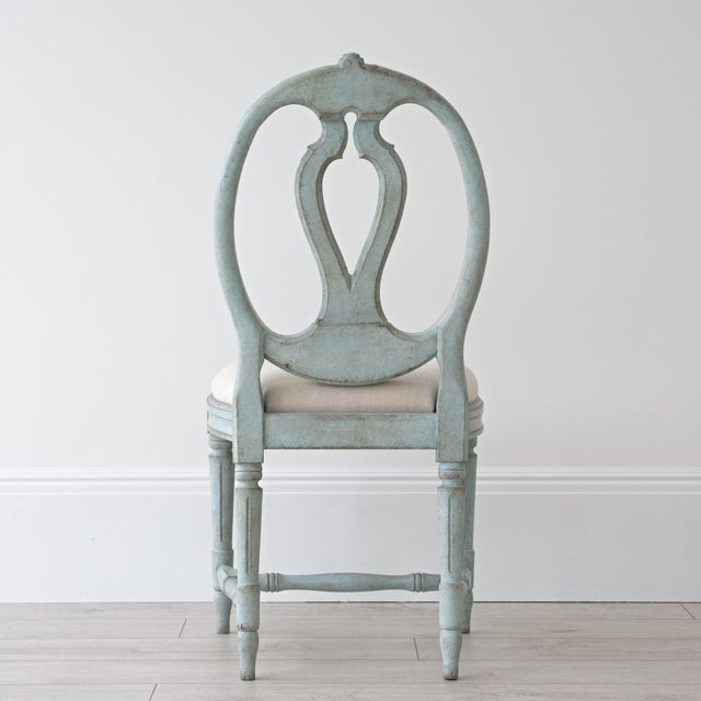 Georgia Lacey Bespoke Rosa Gustavian Dining Chair For Sale - Image 4 of 11