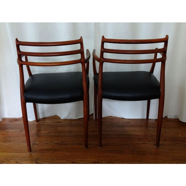 Mid-Century Modern Mid 20th Century Mid Century Danish Modern Armchairs by J. L. Moller - a Pair For Sale - Image 3 of 10