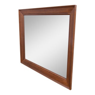 Ethan Allen Vintage Maple Rectangular Wall Mirror For Sale