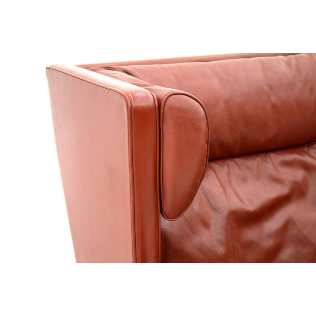 One of Two Børge Mogensen Coupe Leather Sofa 2192 Made by Frederica, Denmark For Sale - Image 9 of 10