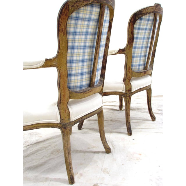 Louis XV Style Fauteuils - A Pair For Sale - Image 4 of 11
