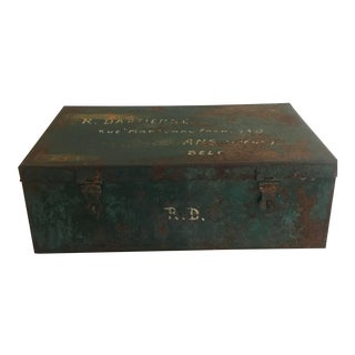 Rustic Metal Storage Box