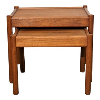 Original Danish Mid Century Nesting Tables - Tohundredeti For Sale