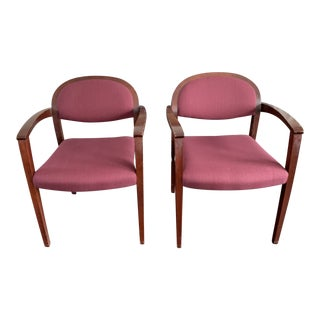 1990s Vintage Gunlocke Lounge Chairs- a Pair For Sale