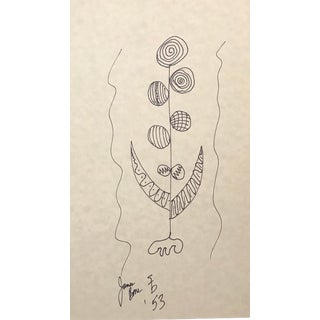 1953 Abstract Mid-Century Modern Atomic Design Drawing by James Bone For Sale