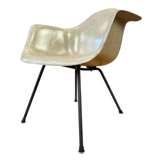 Early Production Charles Eames Fiberglass Shell Armchair for Herman Miller For Sale
