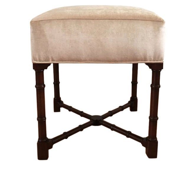 Hickory Chair Co. Upholstered Bench - Image 1 of 6
