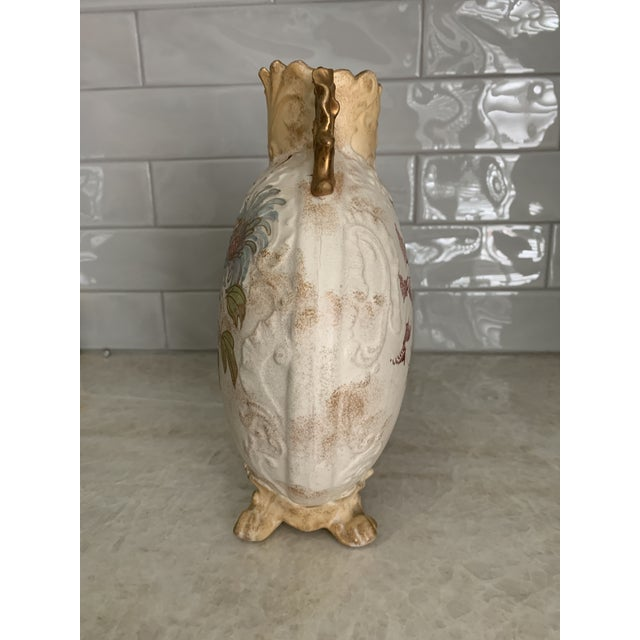Victorian Antique 1860 Samuel Moore & Co. Chinoiserie Moon Vase For Sale - Image 3 of 9