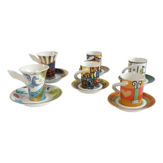 Rosenthal China Espresso Cups - Set of 6 For Sale