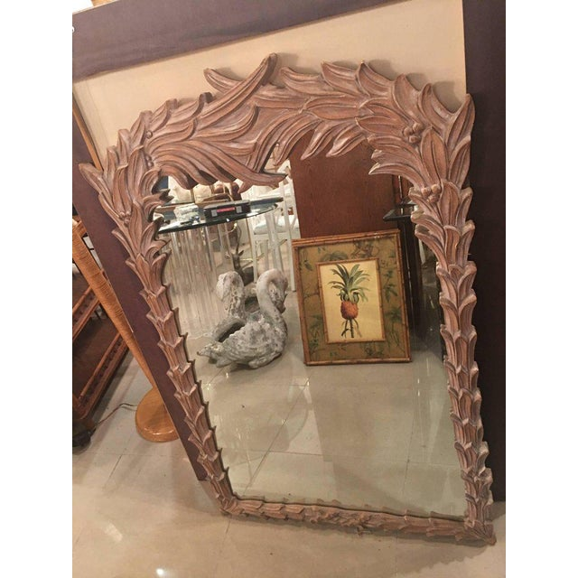 Vintage Palm Frond Wall Mirror - Image 8 of 9