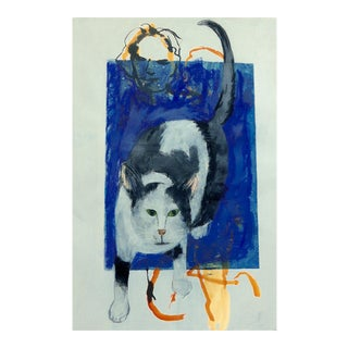 "Large - ""Lady and Her Cat"" For Sale"