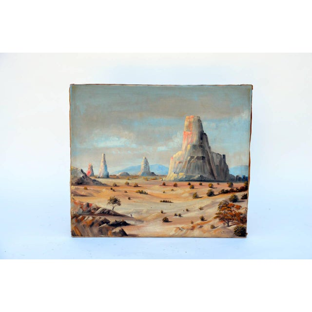 1930 Monument Valley Oil on Canvas For Sale In Los Angeles - Image 6 of 6