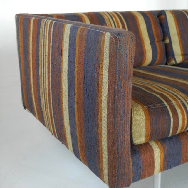 Bouclé Milo Baughman for Directional Tuxedo Sofa For Sale - Image 7 of 9