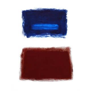 Paletho Blue Over Terra Cotta Rothko Surprise #91 Oil Painting on Canvas For Sale
