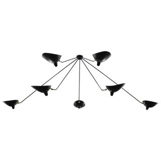 Serge Mouille Seven Still Arms Ceiling Sconce Lamp