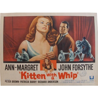 "1964 Original American Movie Poster - ""Kitten With a Whip"" With Ann-Margret & John Forsythe For Sale"
