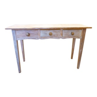 19th Century Scandinavian Whitewashed Pine Console For Sale