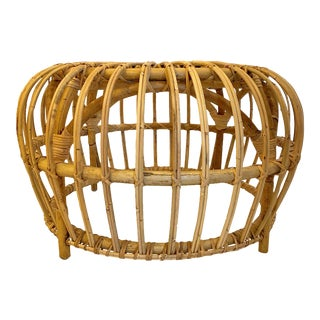 Rattan Woven Bunching Table For Sale