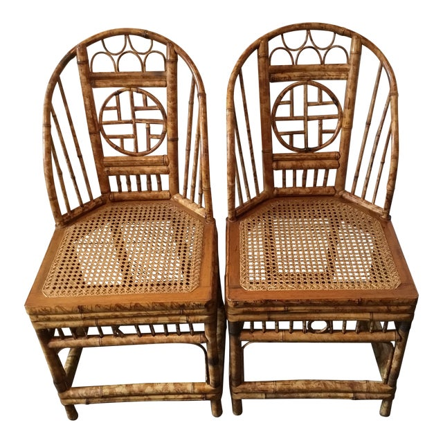 Vintage Brighton Chinese Chippendale Chairs - A Pair - Image 1 of 11