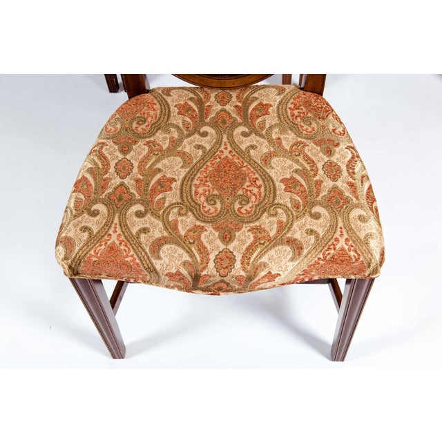 Solid Mahogany Wood Shield Back Dining Chairs - Set of 4 For Sale - Image 10 of 13