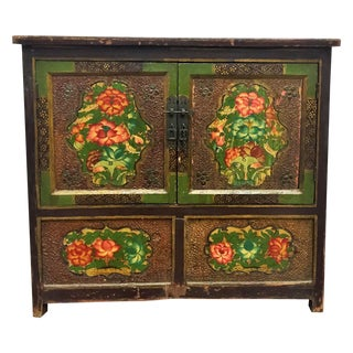 Antique Lacquered Chinese Sideboard For Sale