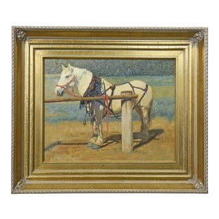 """Hitched"" Oil Painting by Harold Stack For Sale"