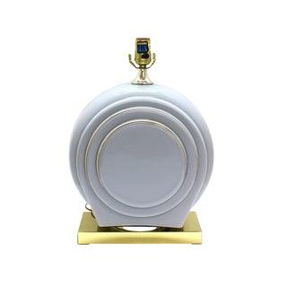 Art Deco Ceramic Gold Trim Table Lamp