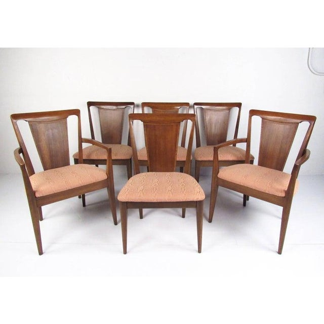 Set of Six Mid-Century Modern Dining Room Chairs