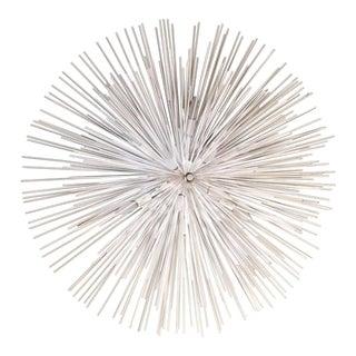 High Gloss White Sea Urchin 10 Light Fixture