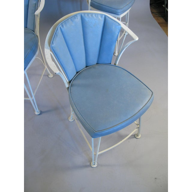 Mid-Century Modern 1950s Vintage Woodard Pinecrest Chairs with Original Cushions - Set of 4 For Sale - Image 3 of 10