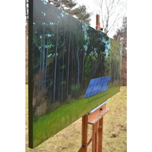 """""""Back Yard Solar Panels"""" Painting by Stephen Remick For Sale - Image 10 of 13"""