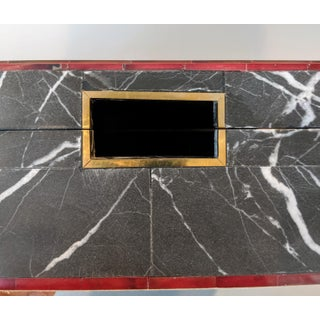 Made Goods Vallen Nero Marble Box With Red and Brass Trim Preview