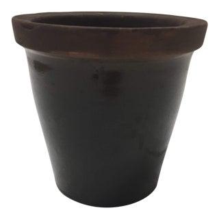 Glazed Terra Cotta Ceramic Planter For Sale