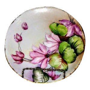 1900s Rosenthal Bavaria Versailles Handpainted Pink Flower Plate For Sale