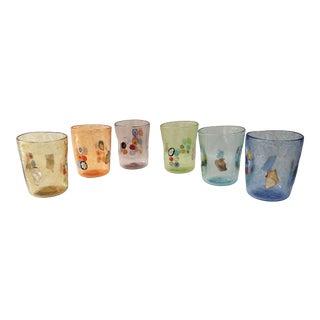 """Vetro Di Murano """"Murrisa"""" Murano Glass"""" Glassware - Set of 6 For Sale"""