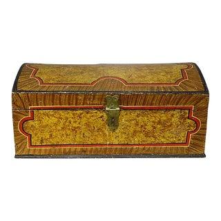 Antique Faux Painted Document Box For Sale