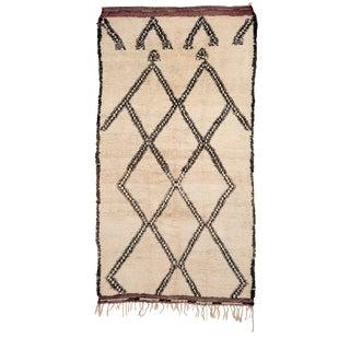Vintage Beni Ouarain Morocan Berber Tribal Rug For Sale