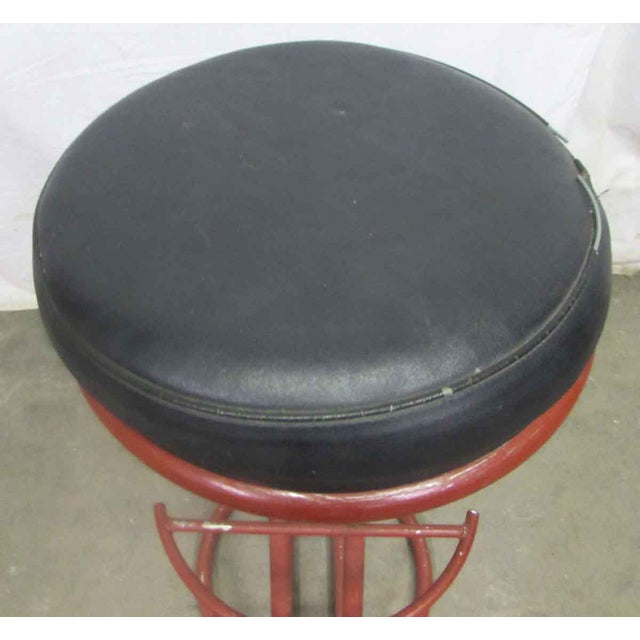 Red Metal Base Stool - Image 3 of 7