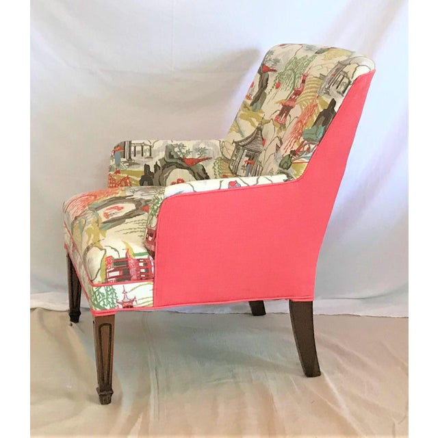 Mid-Century Modern Mid Century Robert Allen Chinoiserie Armchair For Sale - Image 3 of 6