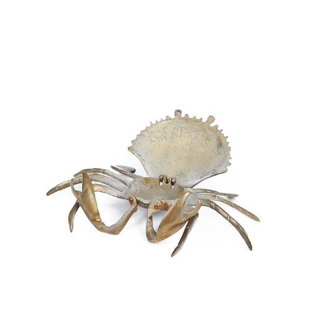 Mid-Century Modern Vintage Brass Crustaceans - A Pair For Sale - Image 3 of 3