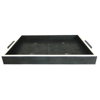Genuine Shagreen With Bone Inlay Rectangle Tray