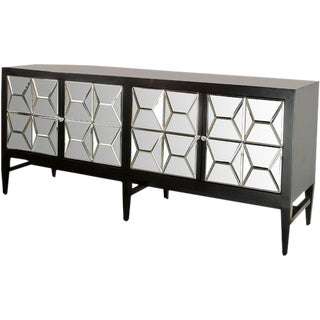 Contemporary Wooden & Glass Spike Sideboard