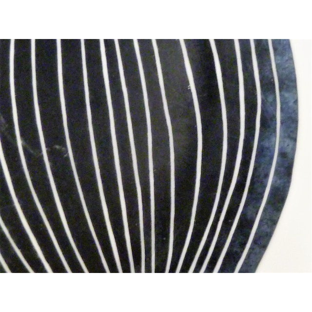 1950s Mid-Century Fornasetti Italy Black and White Foliage or Foglie Plates - Set of 3 For Sale - Image 11 of 13