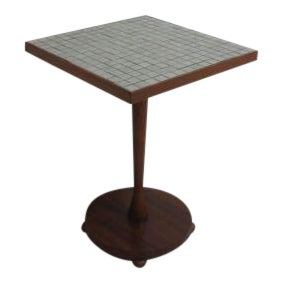 Lane Mid Century Tile Top Lamp End Table