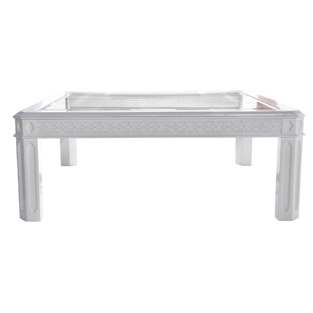 White Chippendale-Style Coffee Table - Image 2 of 6