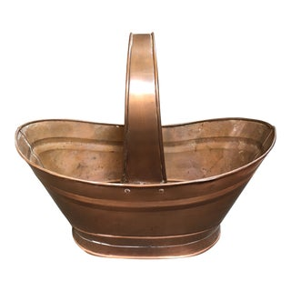 Vintage Rustic Copper Basket