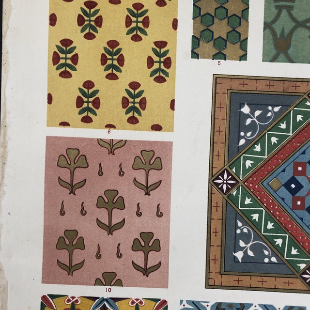 Printmaking Materials Persian Print From Grammar of Ornament For Sale - Image 7 of 12