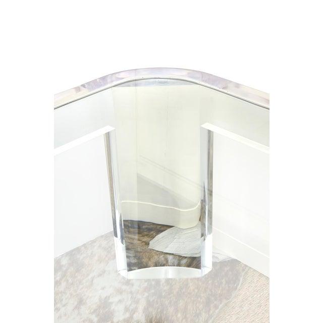 """Les Prismatiques Vintage Les Prismatiques Lucite and Glass Rectangular """"Luna"""" Cocktail Table For Sale - Image 4 of 10"""