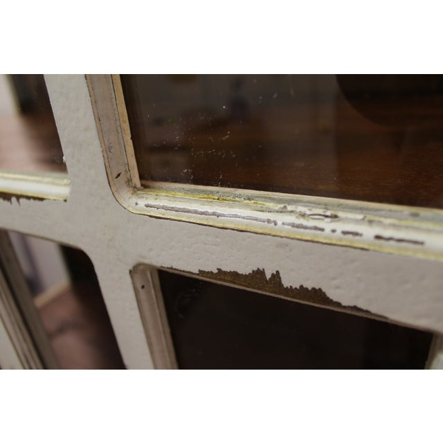 French Country White Distressed Pie Safe Cabinet - Image 8 of 11