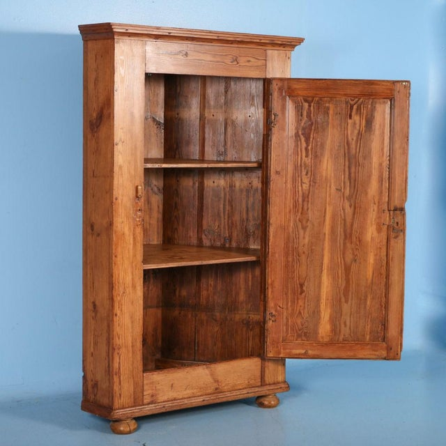 Farmhouse 19th Century Antique Swedish Pine Corner Cabinet For Sale - Image 3 of 10